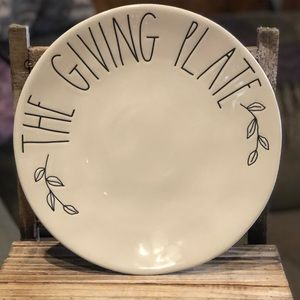 Brand New Rae Dunn The Giving Plate